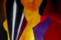 abstract female figure paintings
