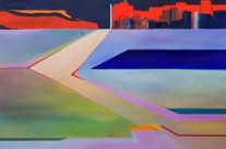 modern landscape paintings – AZ desert passing through