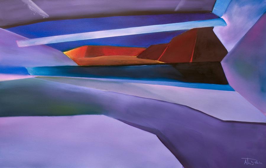 Geometric Landscape painting Holding Back