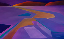 Original abstract desert painting – resting place