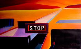 contemporary desert paintings – stop! poweful geometric paintings