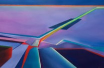desert abstract painting – road out a contemporary view