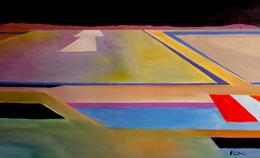 modern abstract aviation art – final approach – a special feeling