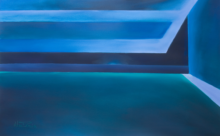 deep blue abstract paintings Is ther anybody out there?