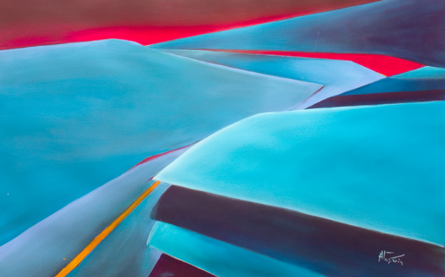 Guild of Aviation Artists Climb Out contemporary abstract painting