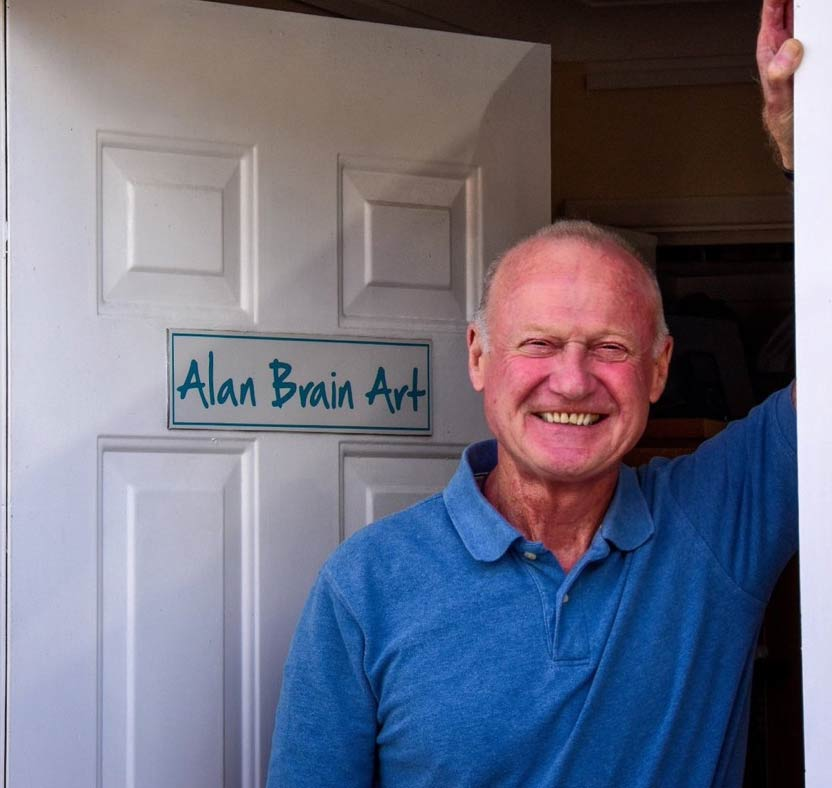 alan brain contemporary abstract artist and art teacher.