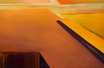calming abstract painting – old orange of the desert