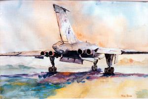 aviation art Vulcan