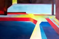 bold geometric paintings for sale – sink or swim. Alan Brain Art