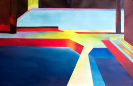 bold geometric paintings for sale – sink or swim. Alan Brain Art