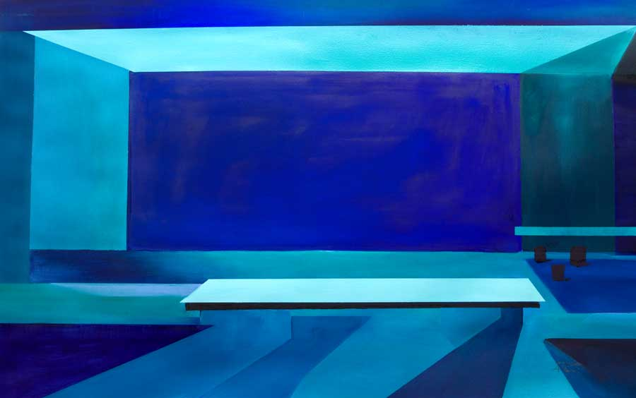dynamic abstract painting Blue Room