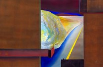 bold vibrant original paintings of the desert – looking out