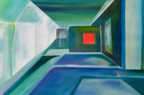contemporary geometric painting – light way