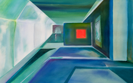 contemporary abstract painting – light way
