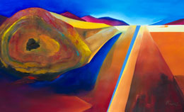 semi abstract contemporary painting – desert heat
