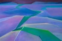 restful landscape watercolour art – beacons