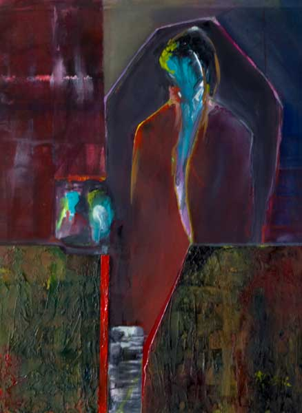 abstract figure painting Introspection