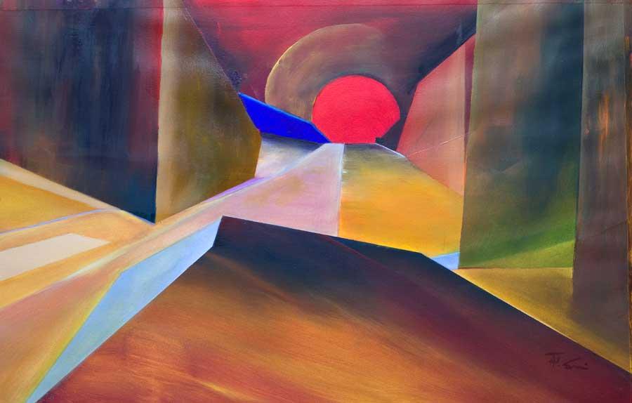 dramatic abstract art - dangerous sundown