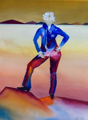 abstract figure painting attitude III