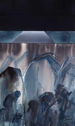 the great war painting menin road II
