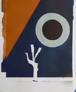contemporary war artists original painting – danger tree