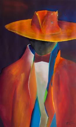 Spanish Art Abstract male figure painting - Senor III