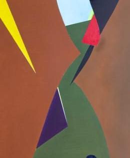 original hard edged abstract contemporary art – Pinball