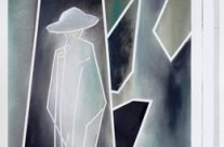 Abstract war figure paintings – a soldier's return