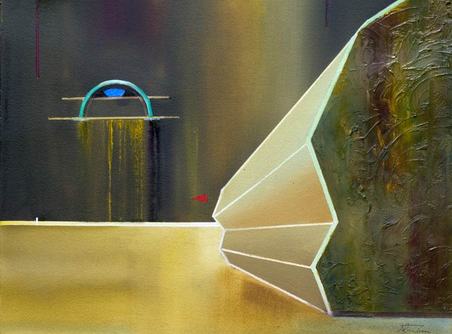 Original paintings Spiritual art, a painting of the crypt