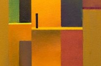 yellow abstract painting – way out