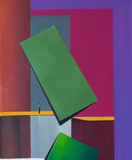 original paintings in muted colours and rectangular shapes – Tumbling II