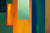 geometrical abstract art – Fire and Green