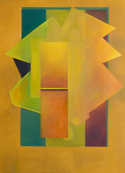 original art in shades of yellow - coming out