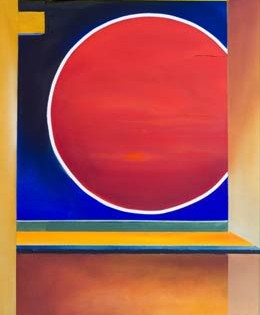 """Original abstract paintings – bold colour and simple shapes create """"Aura"""""""