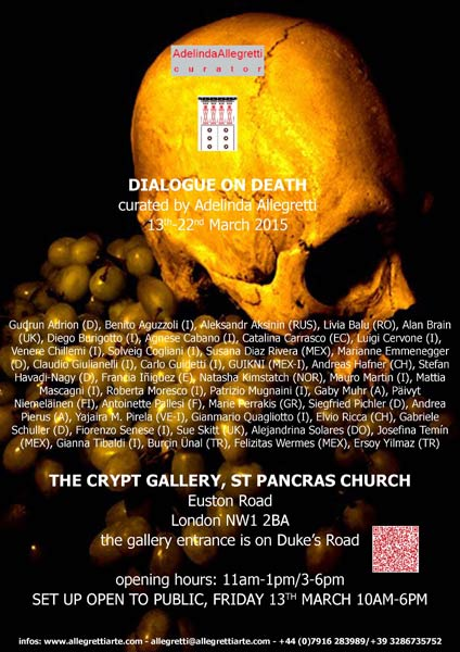 dialogue with death exhibition images of paintings
