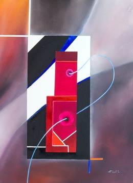 Contemporary Geometric Paintings – Threads