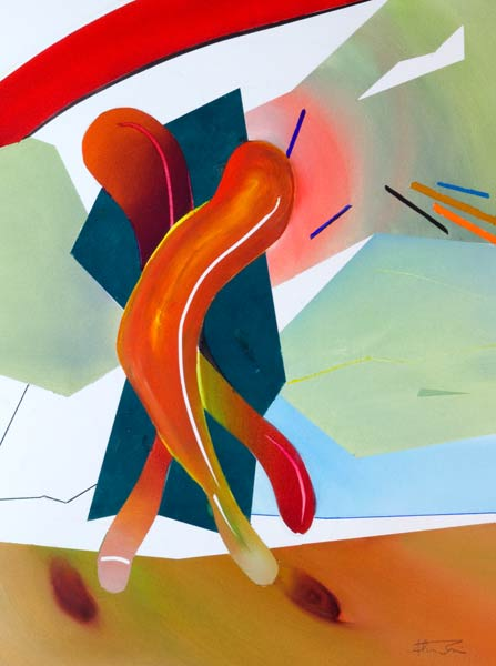 Exciting abstract figure art bounce
