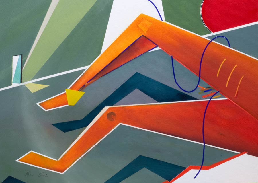 orange legs -abstract artwork