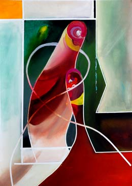 alan brain art painting about abstract figures