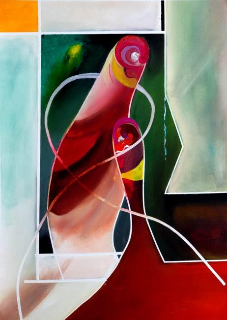 bonded abstract figures enjoying life