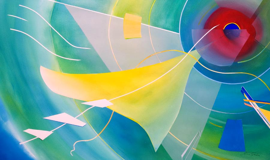 abstract-aviation-artwork  with geometric shapes-Letting-Go!