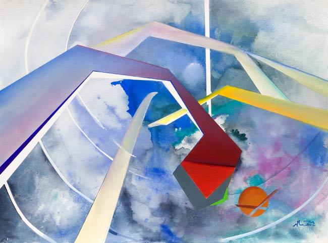 geometric artwork - target