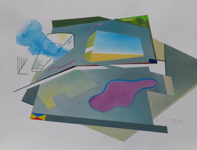 angular geometric paintings - celebrity towers