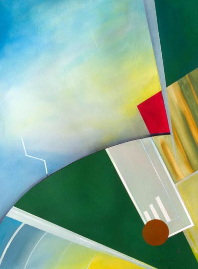 Aerobatics - original art paintings that capture the disorientation sense
