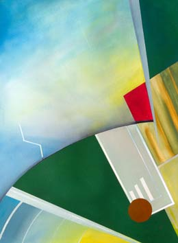 aviation abstract art Aerobatics - paintings that capture the feeling of flying