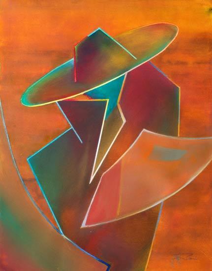intriguing spanish male paintings in watercolour - Senor III