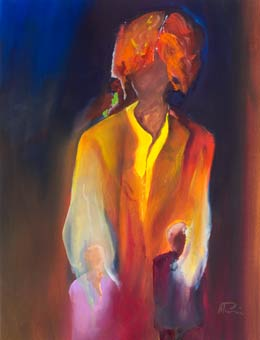abstract figure paintings - mother