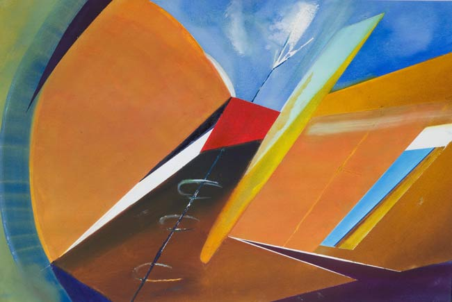 genuine abstract flight paintings