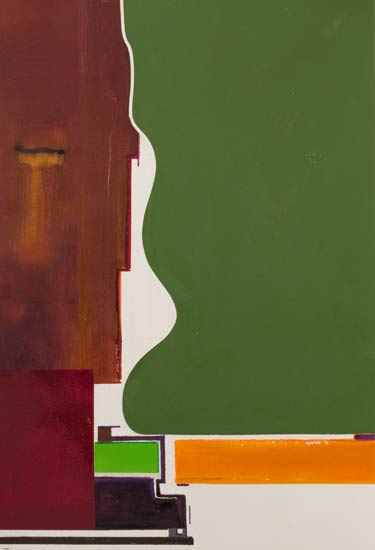 brown and green an abstract painting with that certain feeling