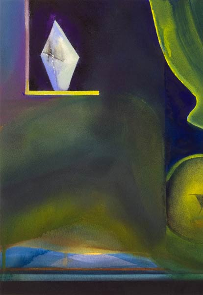 Surreal artwork, a contemporary painting called above it all